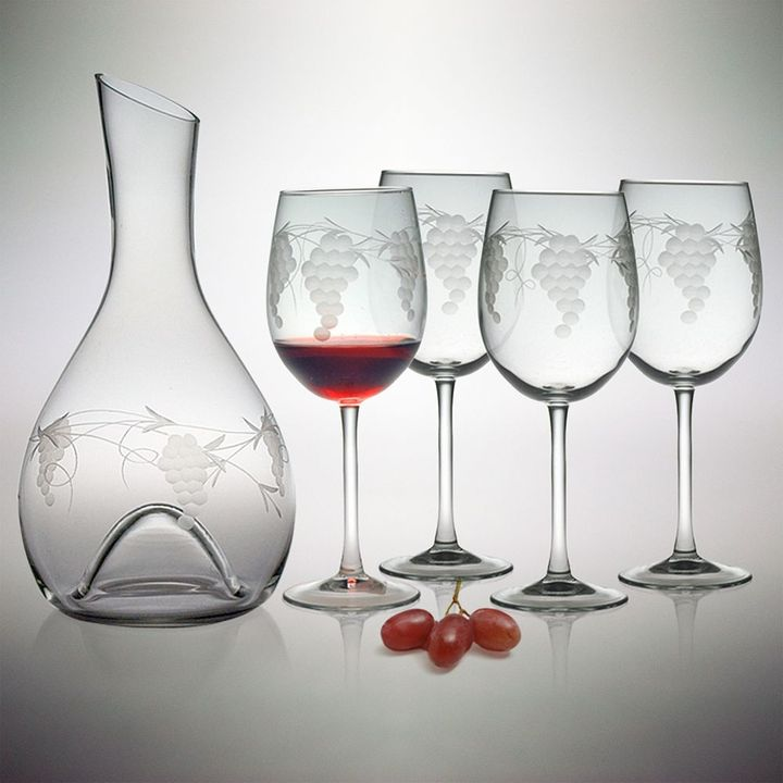 Susquehanna glass sonoma collection 5-pc. punted carafe & wine glass set