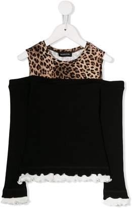 MonnaLisa cold-shoulder top