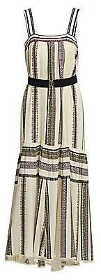 Derek Lam Women's Silk Printed Tank Midi Dress