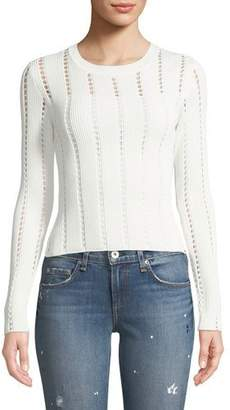 Bailey 44 Siberian Pointelle Knit Ribbed Sweater