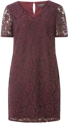 Dorothy Perkins Womens Purple Two Tone Lace Shift Dress