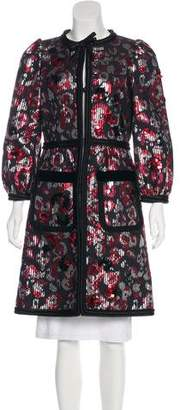 Marc Jacobs Embellished Brocade Coat