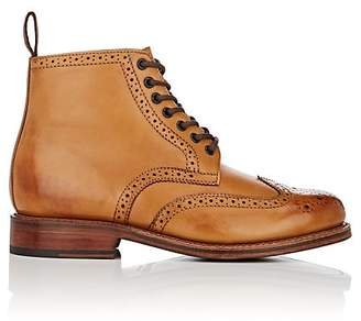 Grenson MEN'S SHARP BURNISHED LEATHER BOOTS