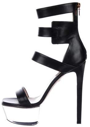 Ruthie Davis Leather Caged Sandals