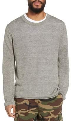 Vince Slim Fit Linen Crewneck Sweater