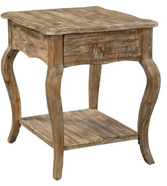 Alaterre Rustic Reclaimed End Table, Driftwood