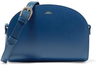 A.P.C. Demi-lune Leather Shoulder Bag - Navy