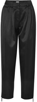 Magda Butrym Jena Silk And Wool-blend Tapered Pants - Black