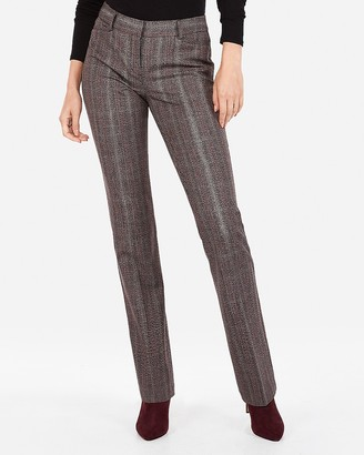 Express Mid Rise Marled Plaid Columnist Barely Boot Pant