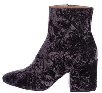 a2f58bb61 Dries Van Noten Crushed Velvet Ankle Boots