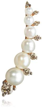 Annoushka Diamonds and Pearls Left Ear Pin