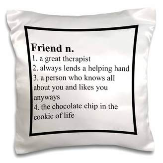 3dRose Definition of Friend saying - Pillow Case, 16 by 16-inch