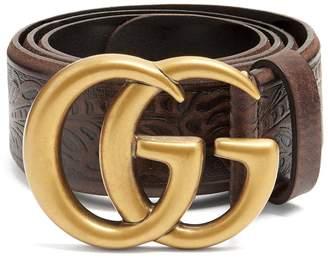 Gucci GG Vintage 4cm leather belt