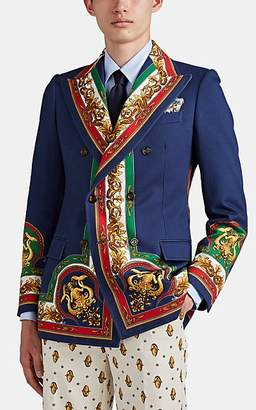 Gucci Men's Mermaid-Medallion Denim Sportcoat