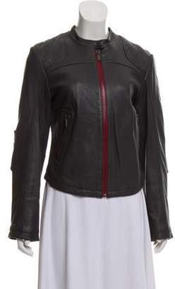 William Rast Leather Biker Jacket