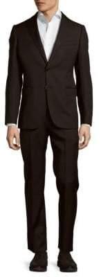 Armani Collezioni Modern Fit Pinstripe Wool Suit
