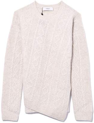 Pringle Round Neck Long Sleeve Sweater in Oatmeal