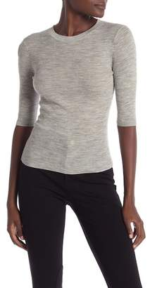 Vince Ribbed Elbow Sleeve Top