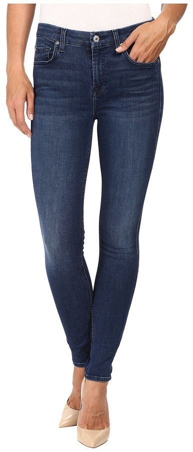 7 For All Mankind 7 For All Mankind The Ankle Skinny w/ Tonal Squiggle in Slim Illusion Luxe Luminous