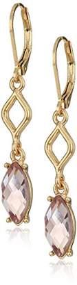 Anne Klein Gold Tone Stone Drop Earrings