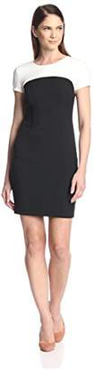 Society New York Women's Cap Sleeve Colorblocked Dress