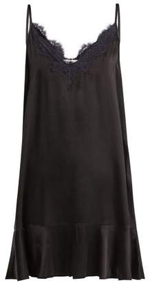 Icons Lace Trimmed Camisole Dress - Womens - Black