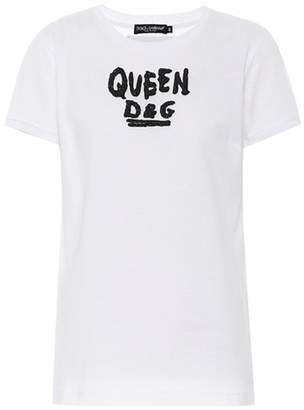 Dolce & Gabbana Embellished cotton T-shirt