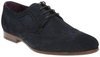 Ted Baker New Mens Blue Granet Suede Shoes Brogue Lace Up