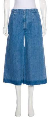 AYR Wide-Leg High-Rise Cropped Jeans