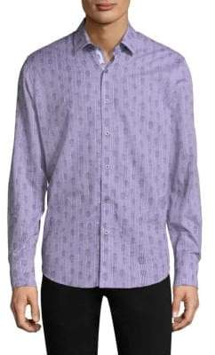 Robert Graham Skull Cotton Casual Button-Down Shirt