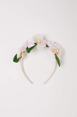 H&M Hairband with Flowers - Pink