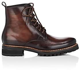 Harris Men's Lug-Sole Burnished Leather Boots-Dk. brown