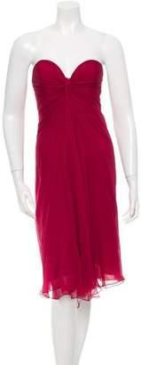 Saint Laurent Strapless Silk Dress w/ Tags