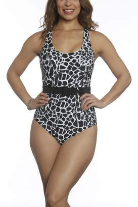Sun & Sea Trading Company Belted One-Piece Swimsuit