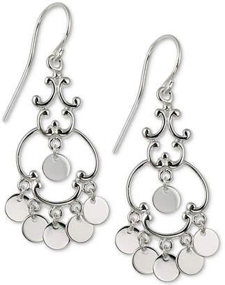 Giani Bernini Fair Isle Dangle Drop Earrings in Sterling Silver, Created for Macy's