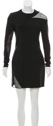 Thierry Mugler Sheer-Accented Bodycon Dress w/ Tags