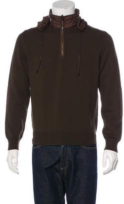 Hermes Hooded Half-Zip Wool Sweater