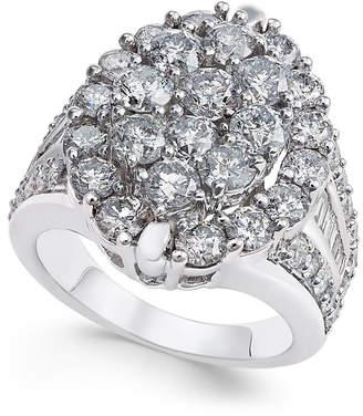 Macy's Diamond Oval Cluster Ring (4 ct. t.w.) in 14k White Gold