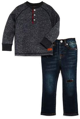 7 For All Mankind Boys' Terry Henley Sweater & Jeans Set - Baby