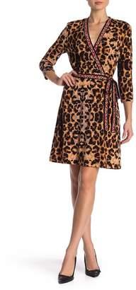 ECI Animal Print Waist Tie Dress