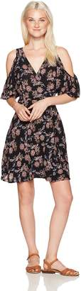 Angie Women's Cold Shoulder Wrap Dress