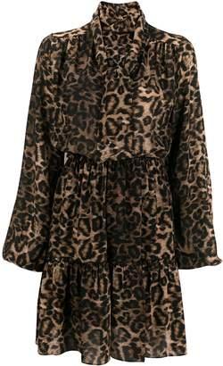 John Richmond leopard print mini dress