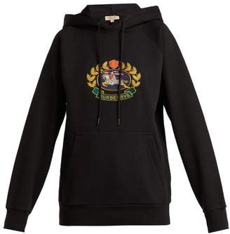 Burberry - Archive Logo Embroidered Cotton Blend Sweatshirt - Womens - Black