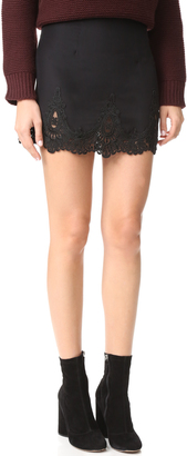 Stone Cold Fox Jade Silk Lace Skirt $245 thestylecure.com