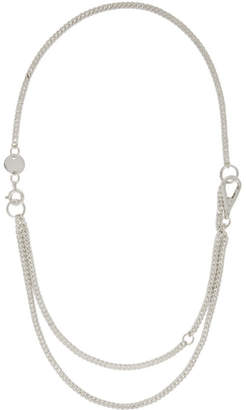 Chin Teo Silver Cleric Short Double Hook Necklace