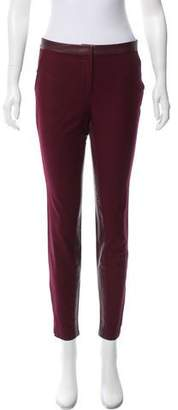 Elizabeth and James Leather-Trimmed Mid-Rise Pants