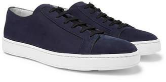 Santoni Nubuck Sneakers - Men - Navy