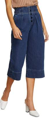 Habitual Button Fly High Rise Wide Leg Crop Nonstretch Jeans