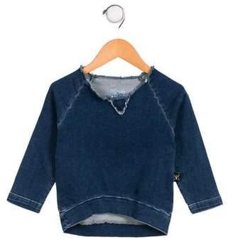 Nununu Girls' Freckles Denim Sweatshirt