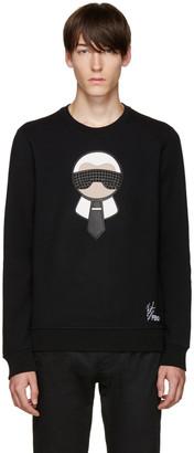 Fendi Black Karlito Pullover $1,100 thestylecure.com